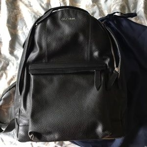 Cole Haan black leather backpack New